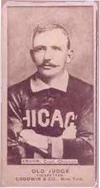 1887 N172 Old Judge Cap Anson (Uniform) baseball card