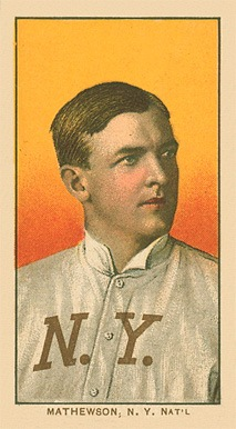 1909-11 T206 White Border Christy Mathewson (Portrait) baseball card