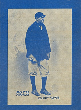 1914 Baltimore News #9 Babe Ruth baseball card