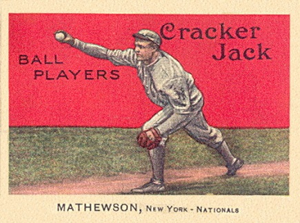 1914 Cracker Jack Christy Mathewson baseball card