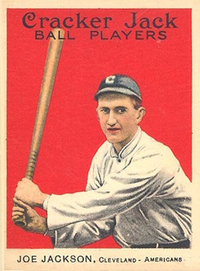 1914 Cracker Jack Joe Jackson baseball card