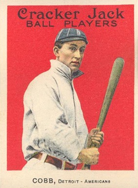 1914 Cracker Jack Ty Cobb baseball card