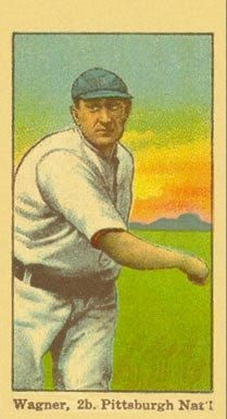 1915 American Caramel E106 Honus Wagner (Throwing) baseball card
