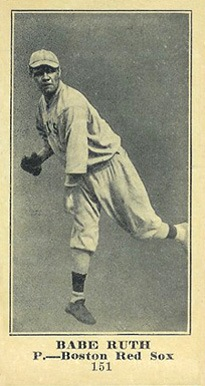 1916 M101-5 Sporting News Babe Ruth rookie card