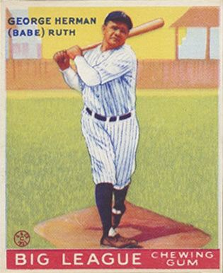 1933 Goudey #144 Babe Ruth baseball card