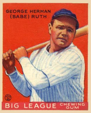 1933 Goudey #149 Babe Ruth baseball card