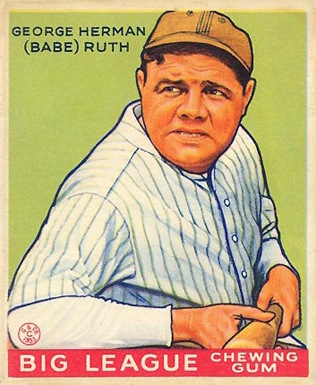 1933 Goudey #181 Babe Ruth baseball card