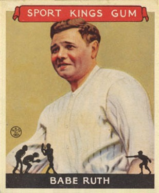 1933 Goudey Sport Kings #2 Babe Ruth baseball card