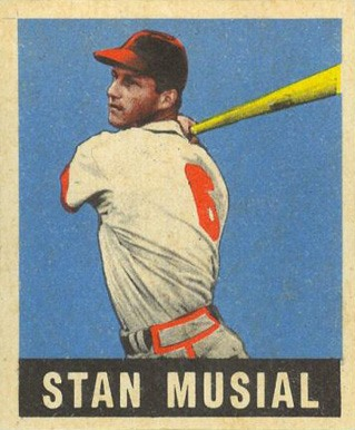 1948 Leaf #4 Stan Musial Rookie Card