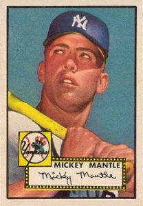 1952 Topps #311 Mickey Mantle baseball card