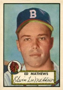 1952 Topps #407 Eddie Mathews Rookie Card