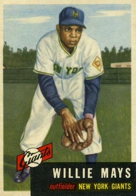 1953 Topps #244 Willie Mays baseball card