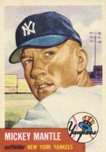 1953 Topps #82 Mickey Mantle baseball card
