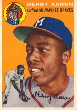 1954 Topps #128 Hank Aaron rookie card