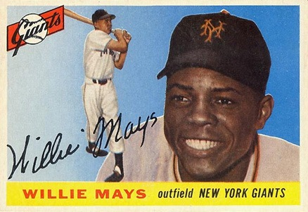 1955 Topps #194 Willie Mays baseball card