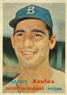 1957 Topps #302 Sandy Koufax baseball card