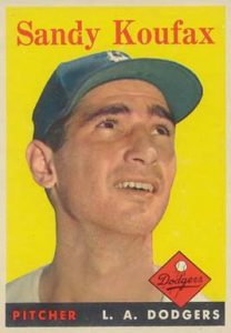 1958 Topps #187 Sandy Koufax baseball card