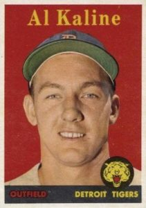 1958 Topps #70 Al Kaline baseball card yellow name
