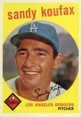 1959 Topps #163 Sandy Koufax baseball card