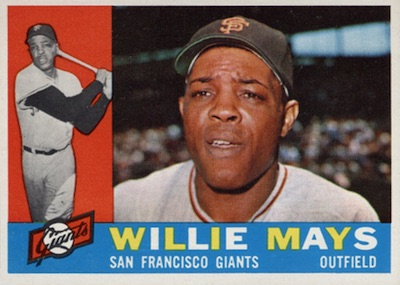 1960 Topps #200 Willie Mays baseball card