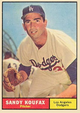 1961 Topps #344 Sandy Koufax baseball card
