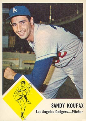 1963 Fleer #42 Sandy Koufax baseball card