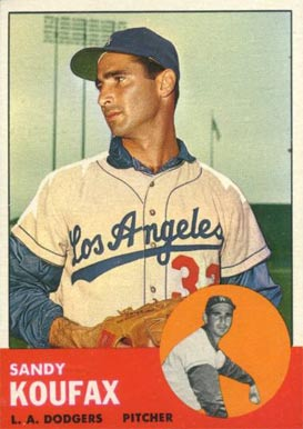 1963 Topps #210 Sandy Koufax baseball card