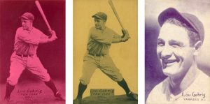 1926-1929 Exhibits Postcard Backs (Photo, Plain, Portrait) Lou Gehrig baseball cards