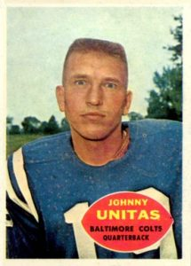 1960 Topps #1 Johnny Unitas football card