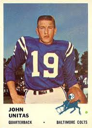 1961 Fleer #30 Johnny Unitas football card