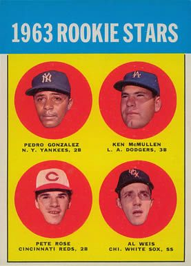 1963 Topps #537 Pete Rose rookie card