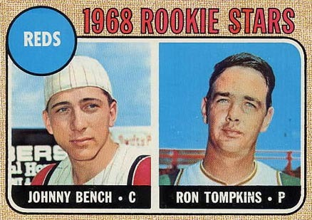 1968 Topps #247 Johnny Bench Rookie Card