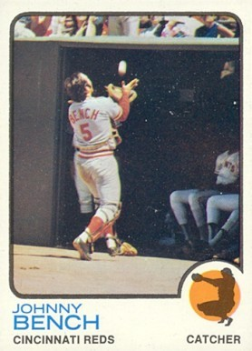 1973 Topps #380 Johnny Bench baseball card