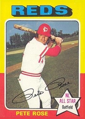 1975 Topps #320 Pete Rose baseball card