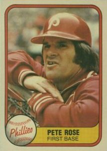 1981 Fleer #1 Pete Rose baseball card
