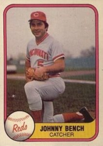 1981 Fleer #196 Johnny Bench baseball card