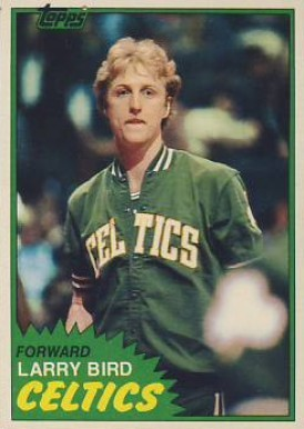 1981 Topps #4 Larry Bird basketball card