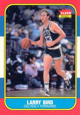 1986 Fleer #9 Larry Bird Basketball Card