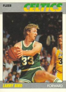 1987 Fleer #11 Larry Bird Basketball Card