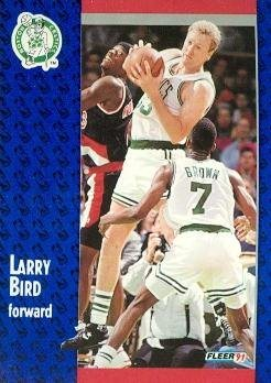 1991 Fleer #8 Larry Bird Basketball Card