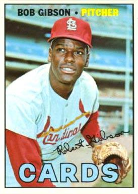 1967 Topps #210 Bob Gibson Baseball Card
