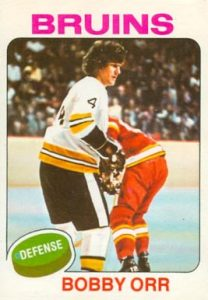 1975 O-Pee-Chee #100 Bobby Orr Hockey Card