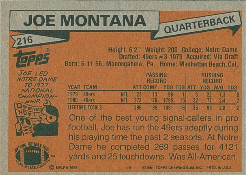 1981 Topps Joe Montana Rookie Card: The Ultimate Collector's