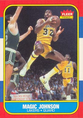 1986 Fleer #53 Magic Johnson Basketball Card