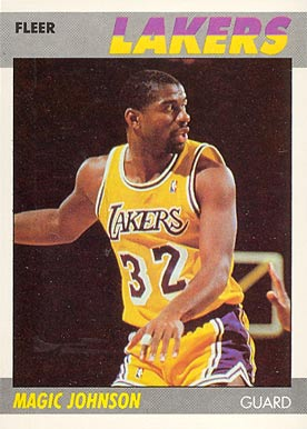1987 Fleer #56 Magic Johnson Basketball Card