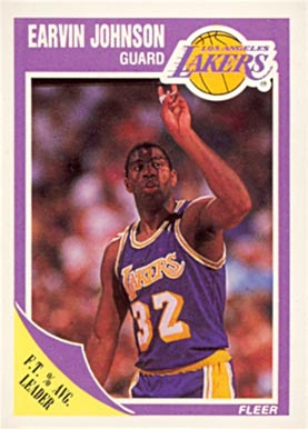 1989 Fleer #77 Magic Johnson Basketball Card
