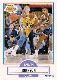 1990 Fleer #93 Magic Johnson Basketball Card