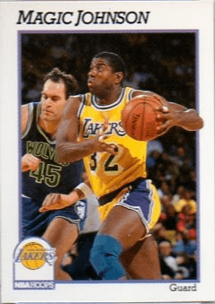 1991 Hoops #101 Magic Johnson Basketball Card