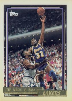 1992 Topps #54 Magic Johnson Basketball Card