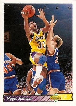 1992 Upper Deck #32A Magic Johnson Basketball Card